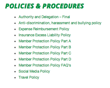 KA policies & procedures