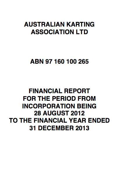 2013 Financial  Auditor's Reports - AKA Ltd - 2013 FINAL