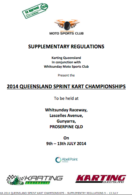 2014 Supplementary Regulations State Championships- Queensland APPROVED 060514