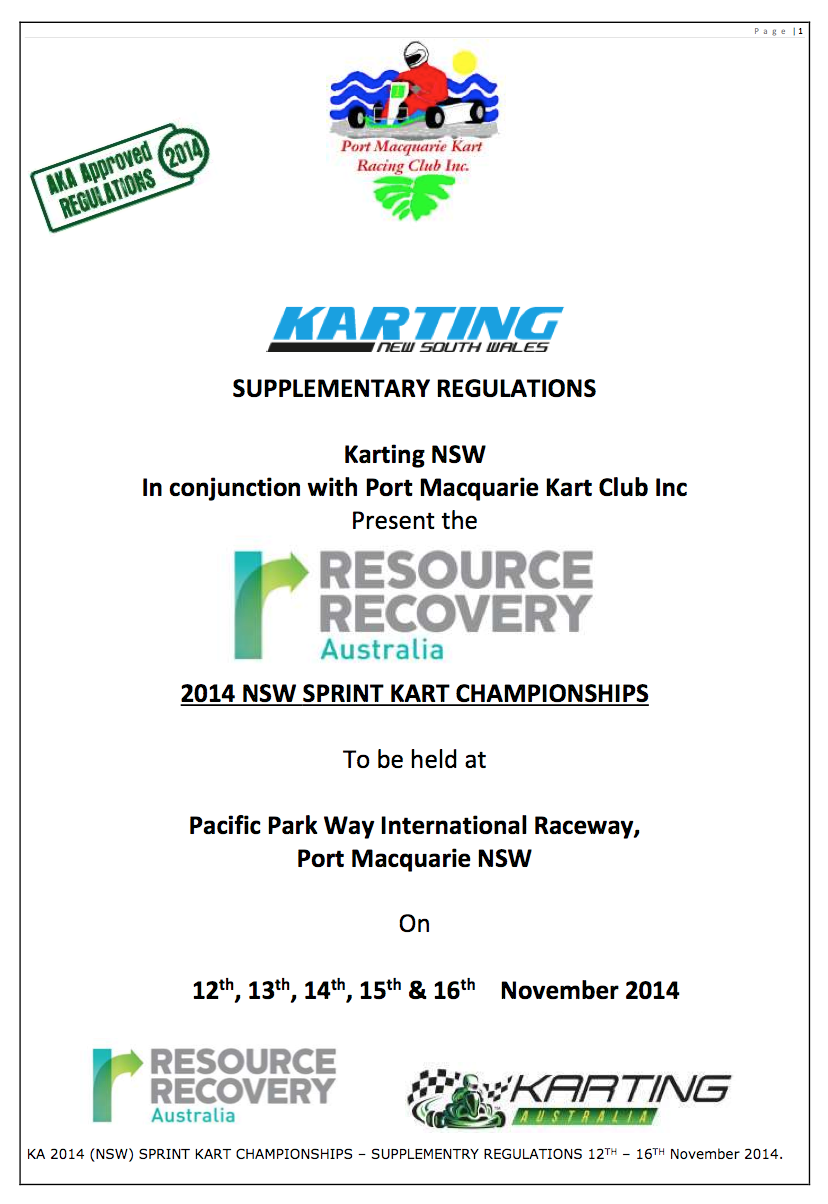 2014 NSW State Championship Supp Regs Port Macquarie APPROVED 230914